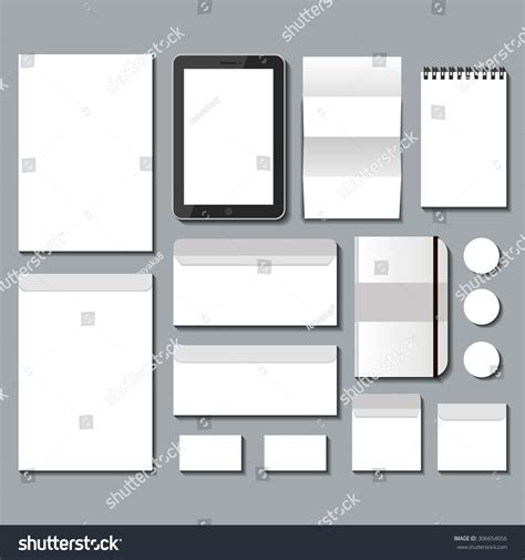 Realistic Vector Mock Branding Leaflet Package Stock Vector 306654056 Shutterstock Branding Package Template