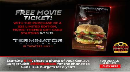 Check Red Robin Gift Card - red robin buy a 25 limited edition gift card get a free movie ticket to terminator