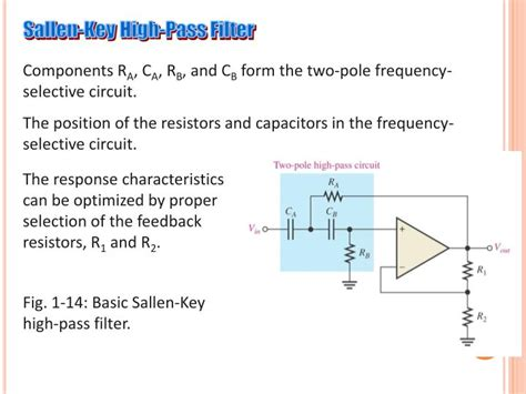 sallen key low pass filter capacitor ppt chapter 4 active filters powerpoint presentation id 1884867