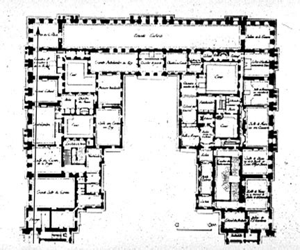 floor plan versailles j h mansart versailles chateau 1679 plan of first