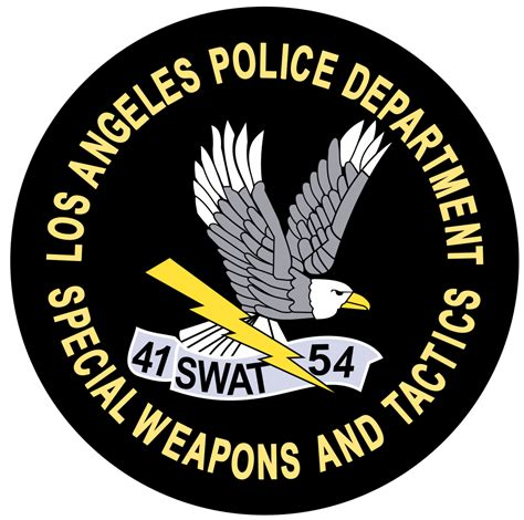 Lapd Records File Seal Of Los Angeles Department Special Weapons And Tactics Svg Wikimedia