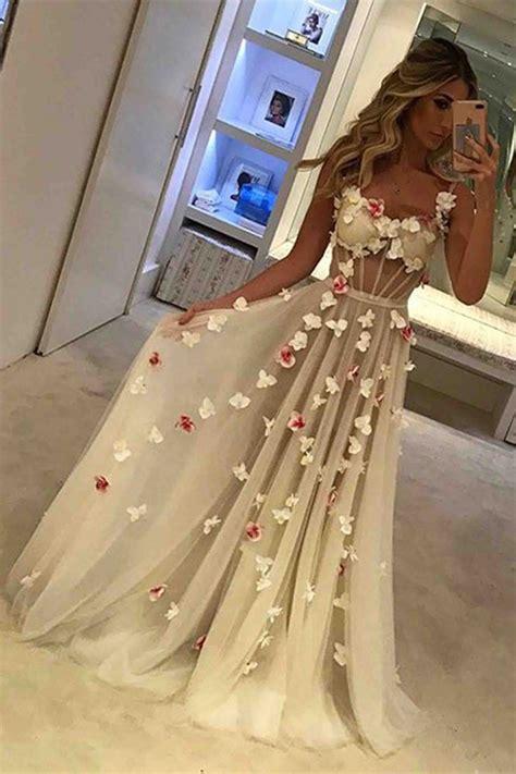 White Unique unique tulle white prom dress white formal dress