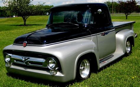 1956 f100 resto mod frame off build 351w fi c 6 auto ac ps