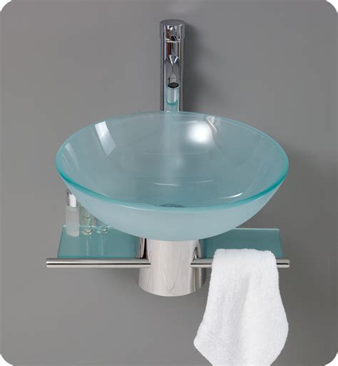 fresca cristallino modern glass bathroom vanity w frosted vessel sink direct to you furniture