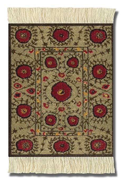 coaster rugs mojolondon poppies rug coasters set of 4 from the tibetan collection