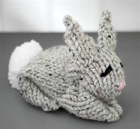 can you knit a square one square knit bunny allfreeknitting