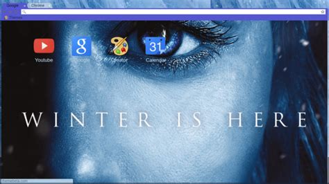 chrome themes winter winter is here khaleesi chrome theme themebeta