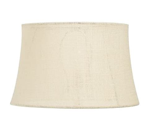 burlap drum l shade burlap upholstered tapered drum l shade pottery barn