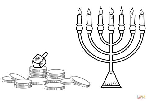 menorah coloring page free free hanukkah coloring pages printable coloring home