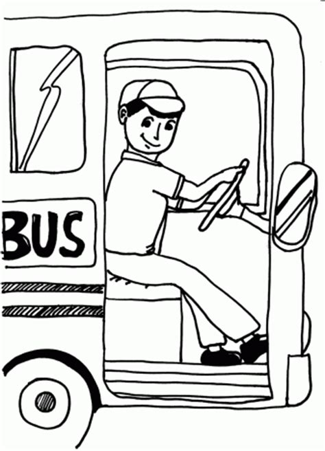 Coloring Page Of School Bus Driver | busdriver coloring pages for free