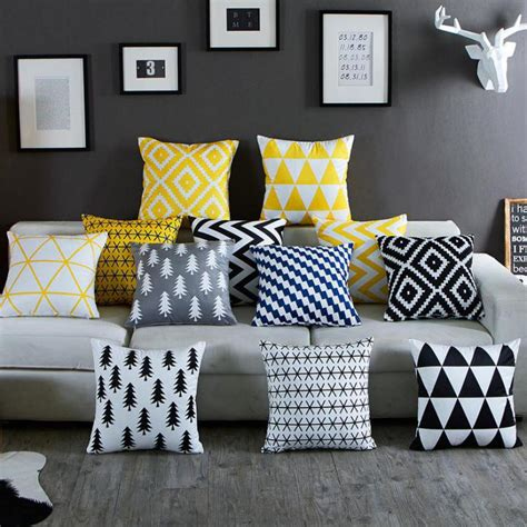 black and white striped home decor aliexpress com buy nordic simply geometric pillow home