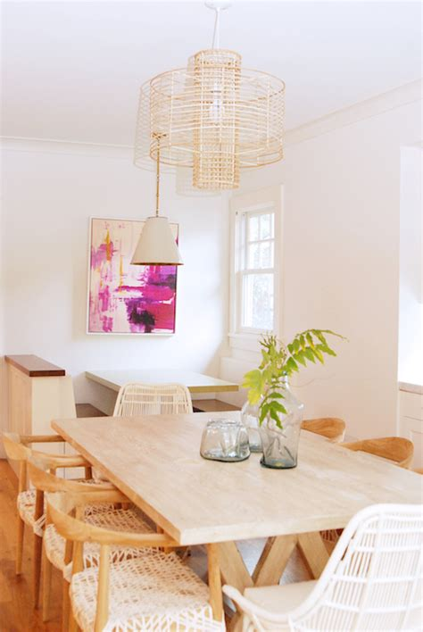 anthropologie dining room anthropologie deco rattan pendant light vintage dining room owens and davis