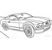 Cool Car Coloring Pages Ford Mustang