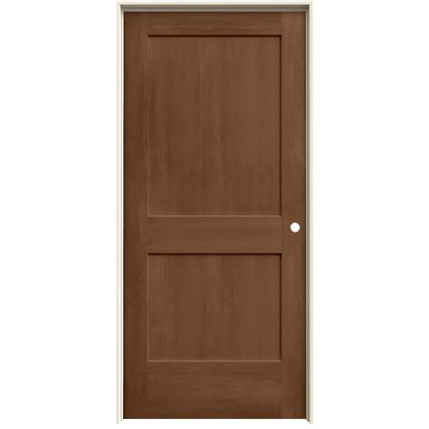 jeld wen interior doors jeld wen 36 in x 80 in hazelnut stain left solid molded composite mdf single