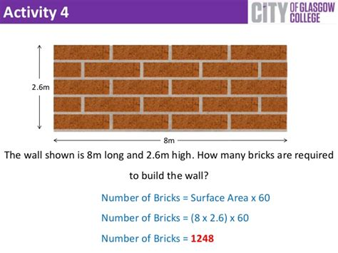 M2 To Feet by Half Brick Walling Calculations