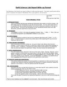 Science Project Written Report Sample Lab Report Template Vnzgames