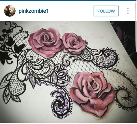 lace rose tattoo shape lace handwork tattoos lace