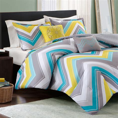 chevron bed sets elise twin xl comforter set blue chevron free shipping