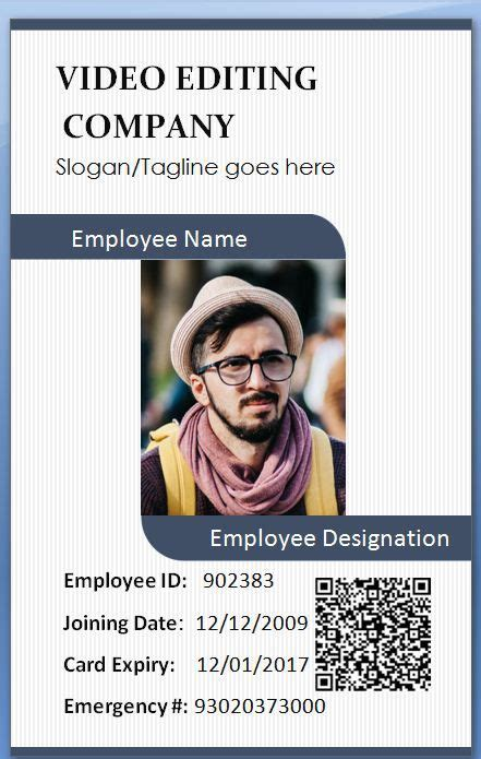 staff id badge template staff id badge template pany id card incepagine