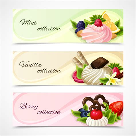 design banner sweet 17 sweet and fruit vector banners graphics 01 vector banner