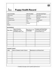 pet health record template puppy record printable fill printable fillable