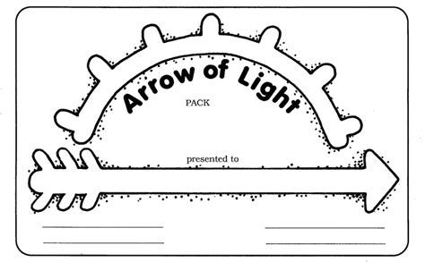 arrow of light certificate template 18 best images about arrow of light ceremonies cub
