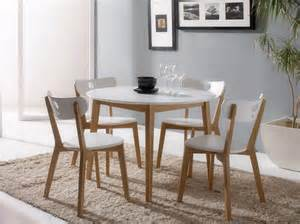 Wood And White Dining Table Contemporary Aida Dining Table In Grey Or White With 4 Dining Chairs