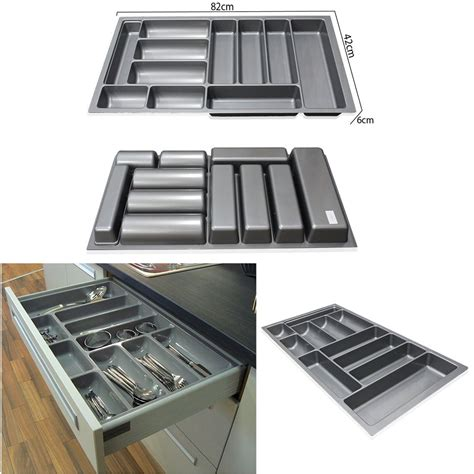 Trays For Drawers by 800mm 900mm Grey Plastic Cutlery Trays Kitchen Drawers