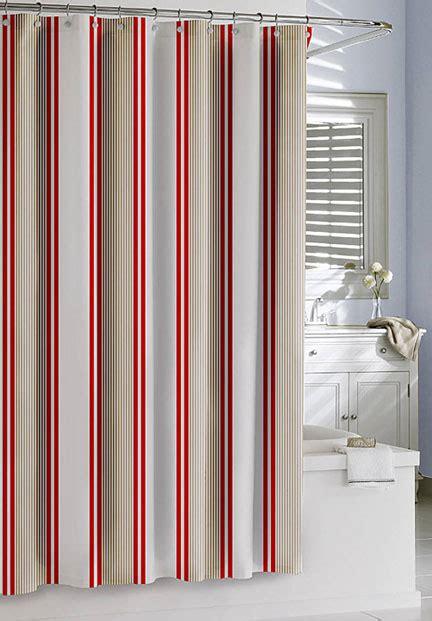 marina blue curtains marina stripe shower curtain gracious style