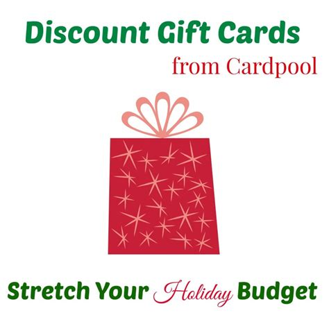 Where To Buy Discounted Gift Cards - discount gift cards from cardpool for the holidays