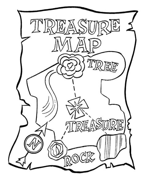 pirate theme treasure map coloring pg pirate birthday