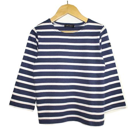 children s navy white striped breton top the nautical