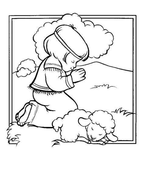 the lord is my shepherd coloring page coloring home