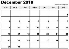 Calendar For 2018 December December 2018 Calendar