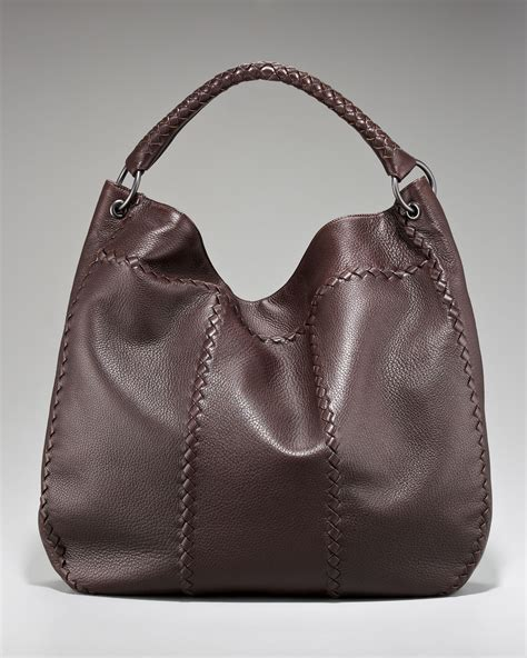 Bottega Veneta Woven Panel Purse by Bottega Veneta Woven Detail Shoulder Bag In Black Ebano