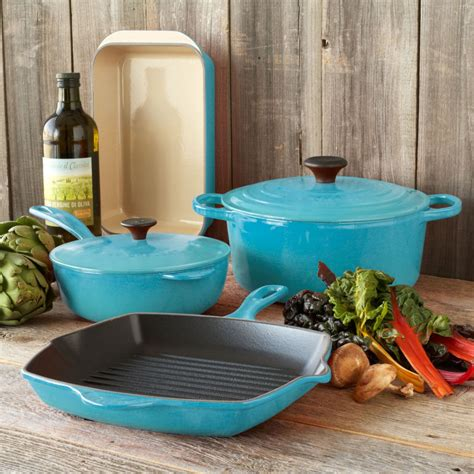 Le Creuset Sur La Table by Le Creuset Caribbean 6 Classic Cookware Set At Sur