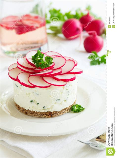 snack cheesecake made from cottage cheese stock photo