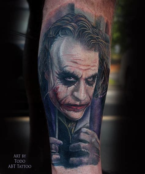 joker tattoo black and white tattoos by todo