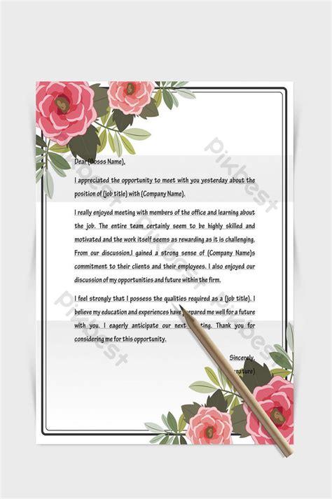 rose flower border european letterhead template word