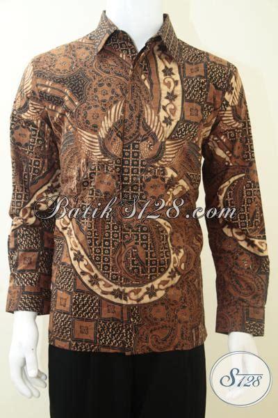 Koleksi Terbaru Kemeja Coklat Sw Kemeja Pria Katun Stretch 1 kemeja batik lengan pajang pria motif klasik warna coklat