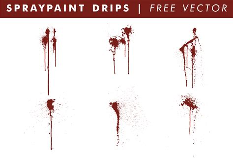 spray paint vector free spraypaint drips free vector free vector