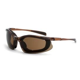 crossfire concept safety glasses brown foam lined frame