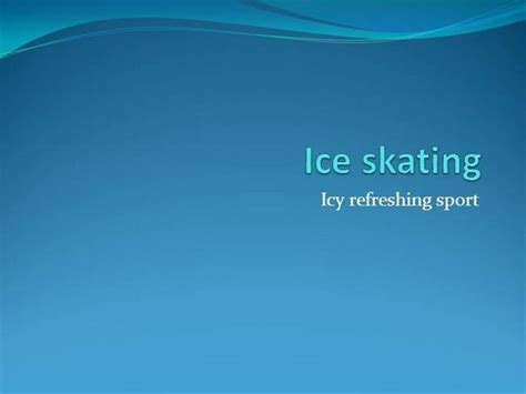 ice skates powerpoint templates ice skating authorstream