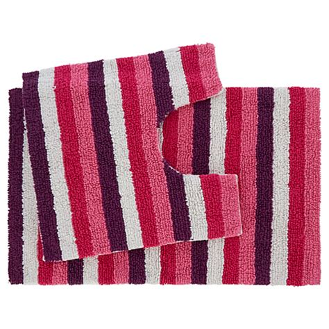 Striped Bathroom Mat Sets George Home Striped Bath Pedestal Mat Set Towels