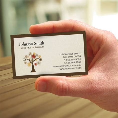 Free Psychology Business Cards Templates by Natureza Moderna 225 Rvore De Vida Cart 227 O De Visita Zazzle