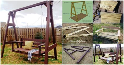 homemade bench swing exciting outdoor diy brilliant swinging benches for
