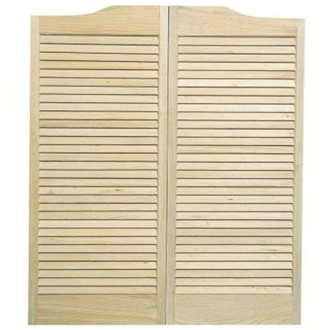 Saloon Doors Home Depot pinecroft louvered wood cafe door 852442 the home depot