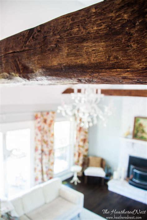 install faux beams diyideacentercom