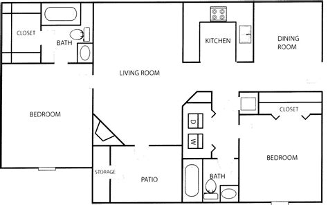 floor plan of a two bedroom flat modern 2 bedroom house plans modern house