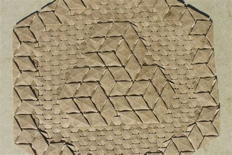 3d origami tessellation tutorial this week in origami 3d tessellation edition